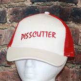 Pisscutter Red and white Trucker style Mesh Hat