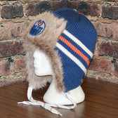 Edmonton Oilers Reebok Blue NHL Center Ice FUR TROOPER Knit Hat