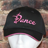 Black with Hot PINK trim Dance cap