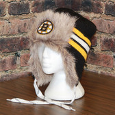 Boston Bruins Reebok NHL Center Ice FUR TROOPER Knit Hat