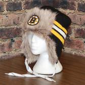 Boston Bruins Reebok NHL Center Ice FUR TROOPER Knit Hat
