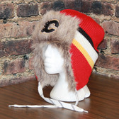 Calgary Flames Reebok Blue Center Ice FUR TROOPER Knit Hat
