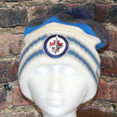 Winnipeg Jets Reebok Blue Center Ice Cuffed Pom Knit Hat