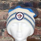 Winnipeg Jets Reebok Blue Center Ice Cuffed Pom Knit Hat