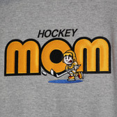 Hockey Mom Hoodie with tackle twill embroidered design
