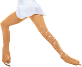 ChloeNoel Over the Boot Ice Skating Tights 8832 - with CRYSTALS