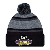 Filane's Falcons logo Black/grey  Pom Pom Toque