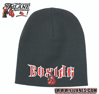 Boxing Glove Logo on Toque Knit Beanie