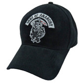 Be part of the club and show your SAMCRO support. Sons of Anarchy iconic reaper patch hat