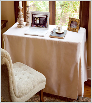 Tablevogue's fitted table cover for workspace in the home