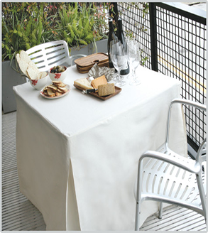Tablevogue's fitted table covers are perfect for outdoor dining
