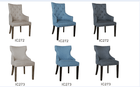 Modern Karina Armchair & Lily Dining Chairs - Various Colors and Styles