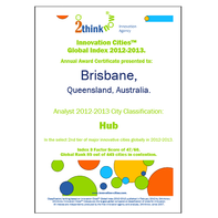 Innovation Cities Index 2015, 2014, 2012-2013 Certificates Format