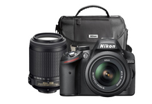 Nikon - D3200 DSLR Camera with 18-55mm and 55-200mm Lenses