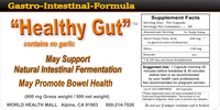 Healthy Gut Capsules No Garlic