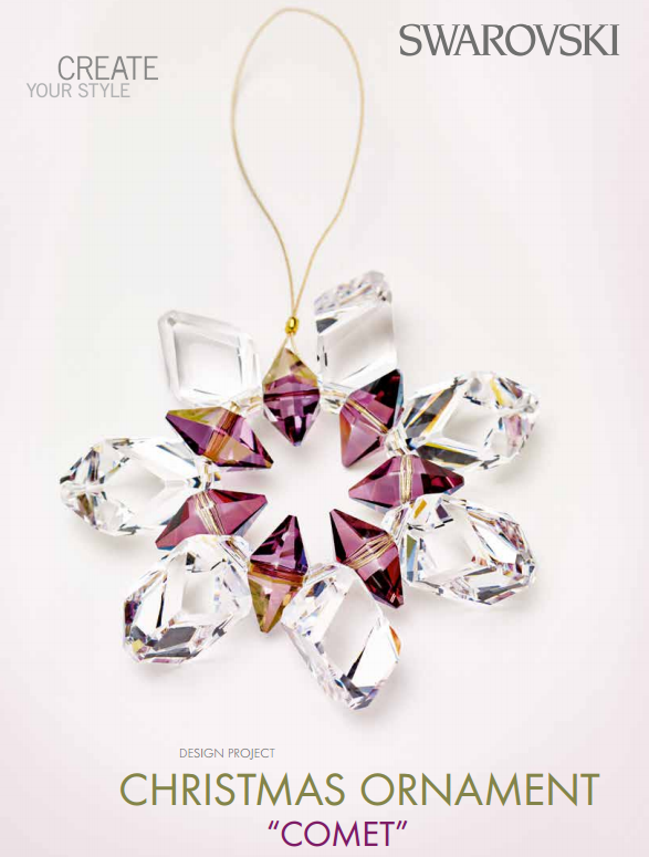 DIY Swarovski Christmas Ornament Free Design and Instructions