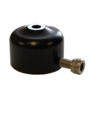 Potentiometer Mount; For Shock Bolt; SHORT; Slides Over The Bolt Head or Nut; Aluminum with Set-Screw
