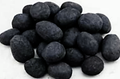 Black Fireplace Pebbles 24 pcs set