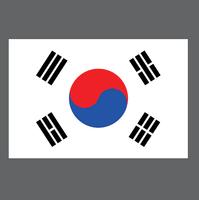 buy vector korean flag image