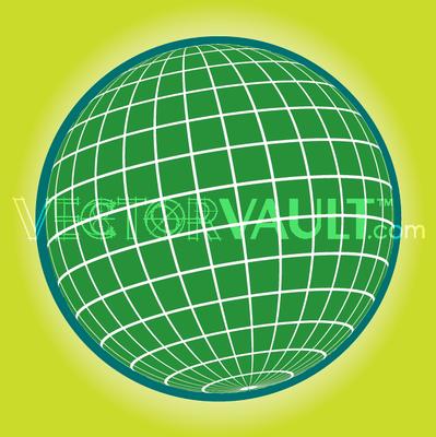 Buy vector globe grid icon logo graphic royalty-free vectors