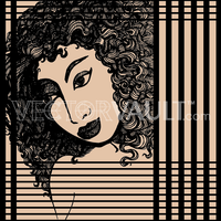 image-buy-vector-curly-haired-female-portrait