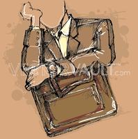 Buy vector tired commuter sketch illustration royalty-free vectors