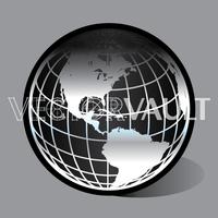 vector black globe