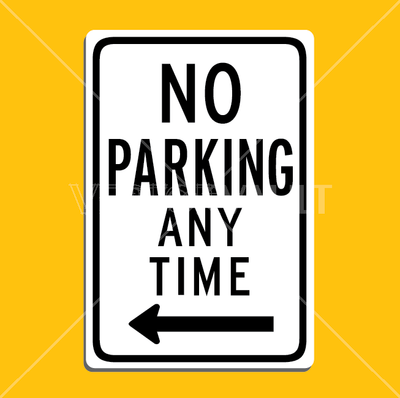 vector no parking sign