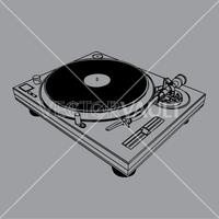 vector dj turntable