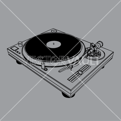 vector dj turntable