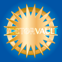 Buy vector starburst halo icon logo graphic royalty-free vectors
