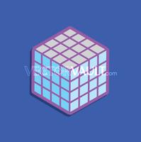Vector Grid Cube Icon