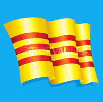Vector Waving Striped Flag
