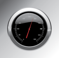 Vector Speedometer Button
