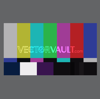Vector TV Stripes Screen