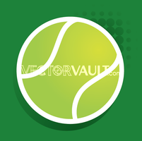 Vector Tennis Ball Icon
