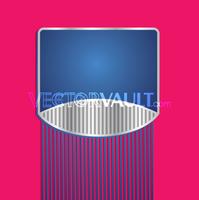 Vector Striped Logo Plate