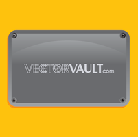 Vector Glossy Metal Plate