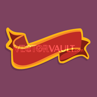 Vector Red Ribbon Banner