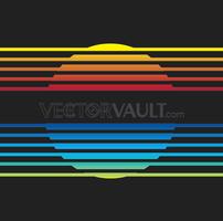Vector Rainbow Sun Logo