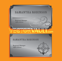 Vector Metal Name Plates