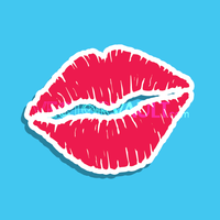 Vector Lipstick Kiss Icon