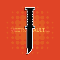 Vector Military Knife Icon