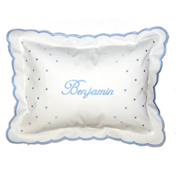 Personalized blue dot pillow