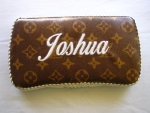 Personalized Baby Wipe Case - Louis Vuiton  faux Fabric