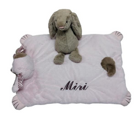 Belly blanket with jellycat bunny