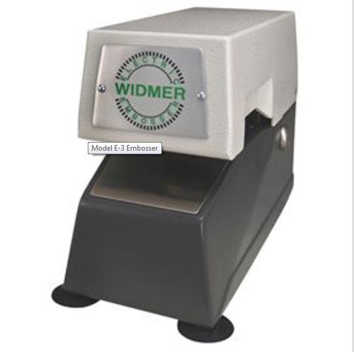 Widmer E3 Embosser Stamp