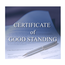 Provide proof that your company is in good standing with the state of Nevada. Certificate of Good Standing is valid for 90 days.