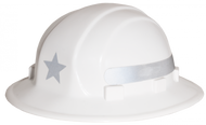 Omega II Full Brim Star Hard Hat / Solid Silver