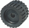 "TieDown - 4"" Wobble Roll Ribbed 3/4"" Shaft Blk Rub - 86493"